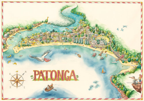 Patonga Beach Illustration by Bill Hope