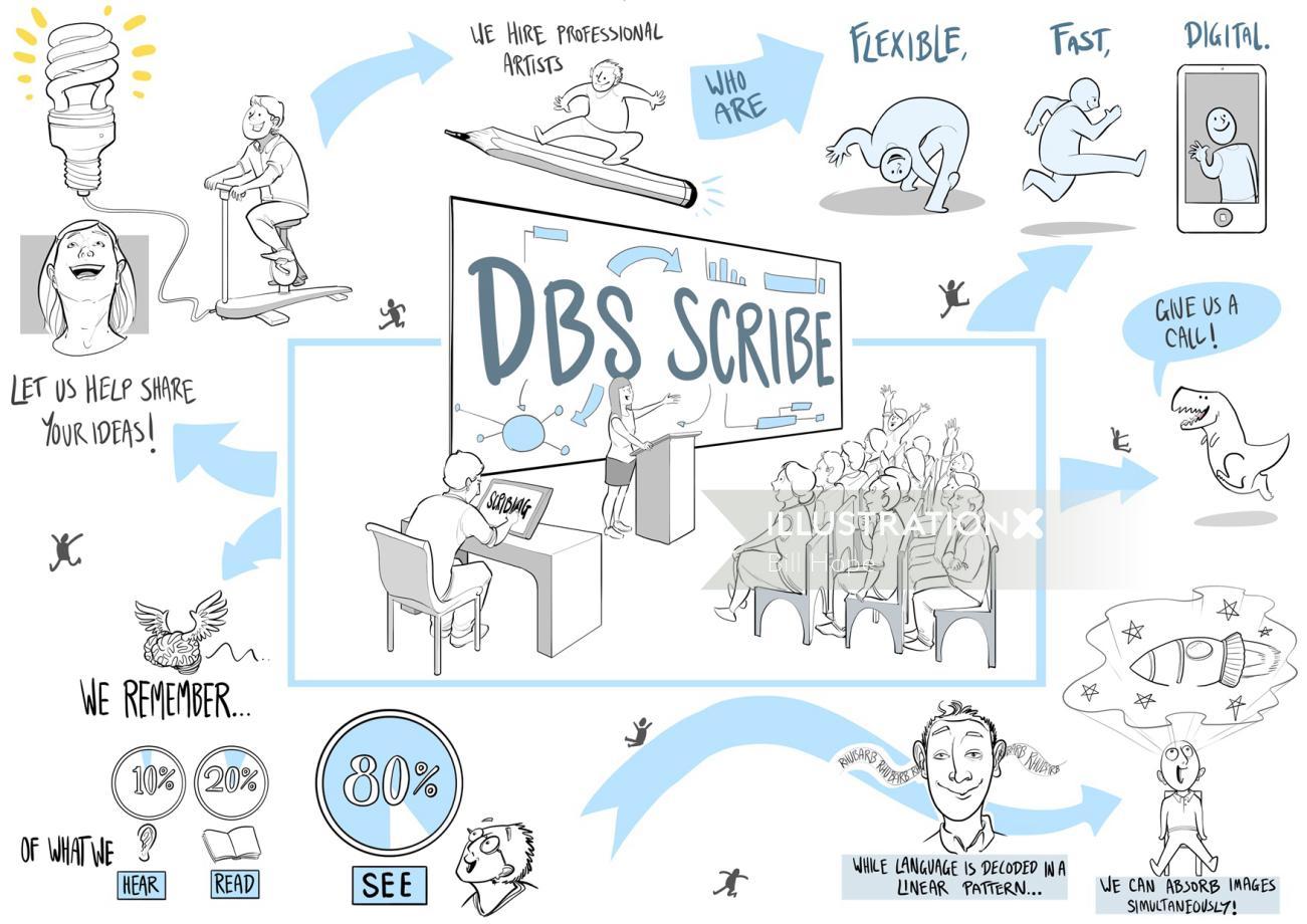 DBS scribe Illustration
