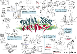 Livescribe Illustration of Trusting Your Creativity