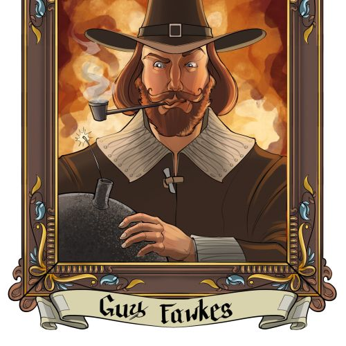 Portrait of Guy Fawkes