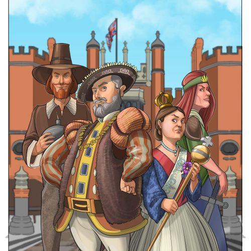 Henry VIII, Guy Fawkes, Queen Victoria & Boudicca