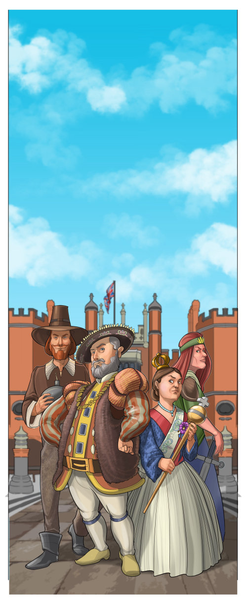 Henry VIII, Guy Fawkes, Queen Victoria & Boudicca