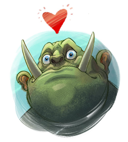 Cartoon Character of Orc
