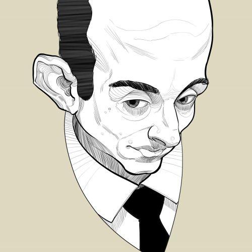 Stephen Miller Caricature