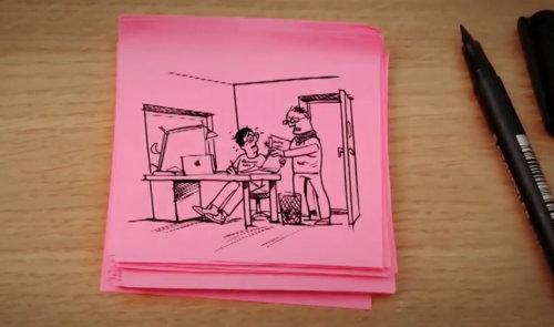 Cartoon and Humour line animation