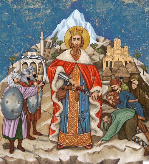 Príncipe Lazar, uma ilustração do Tzar Sérvio