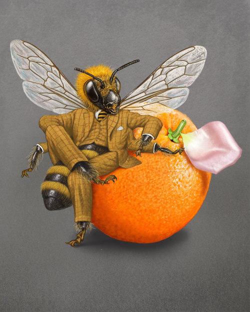 Anthropomorphic illustration for Heston Waitrose