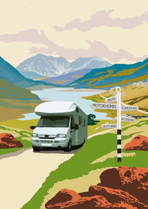 Graphic design of Caravan Car