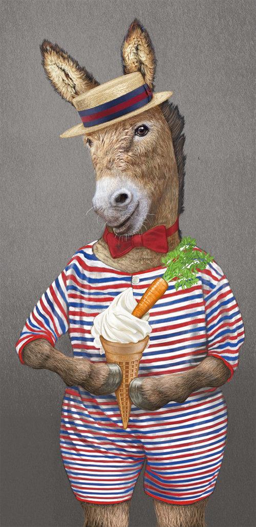 Bob Venables 的带有冰淇淋插图的拟人马