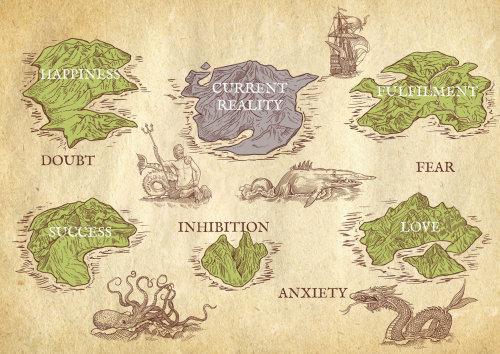 Lifestyle map illustration