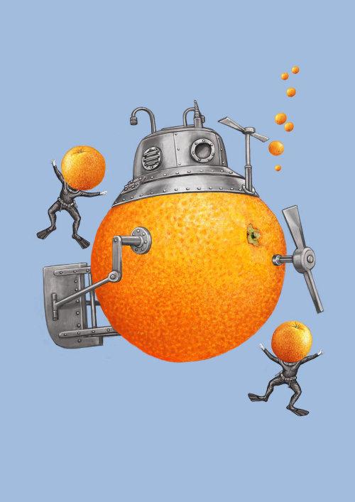 Orange juice machine food and drink illustration