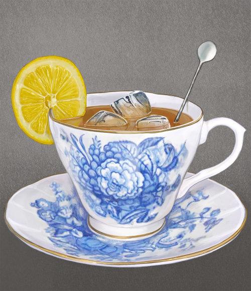 Decorative Lemon Tea Cup