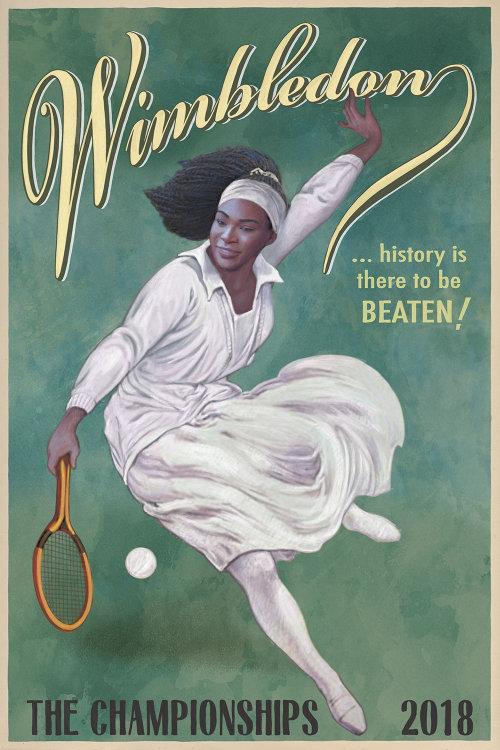 Wimbledon Tennis Championships advertising poster