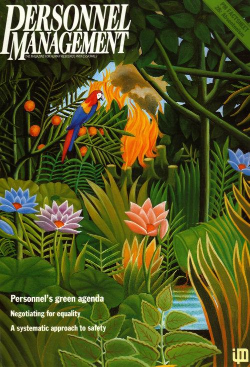 Personnel Management Magazine cover art about Rainforest
