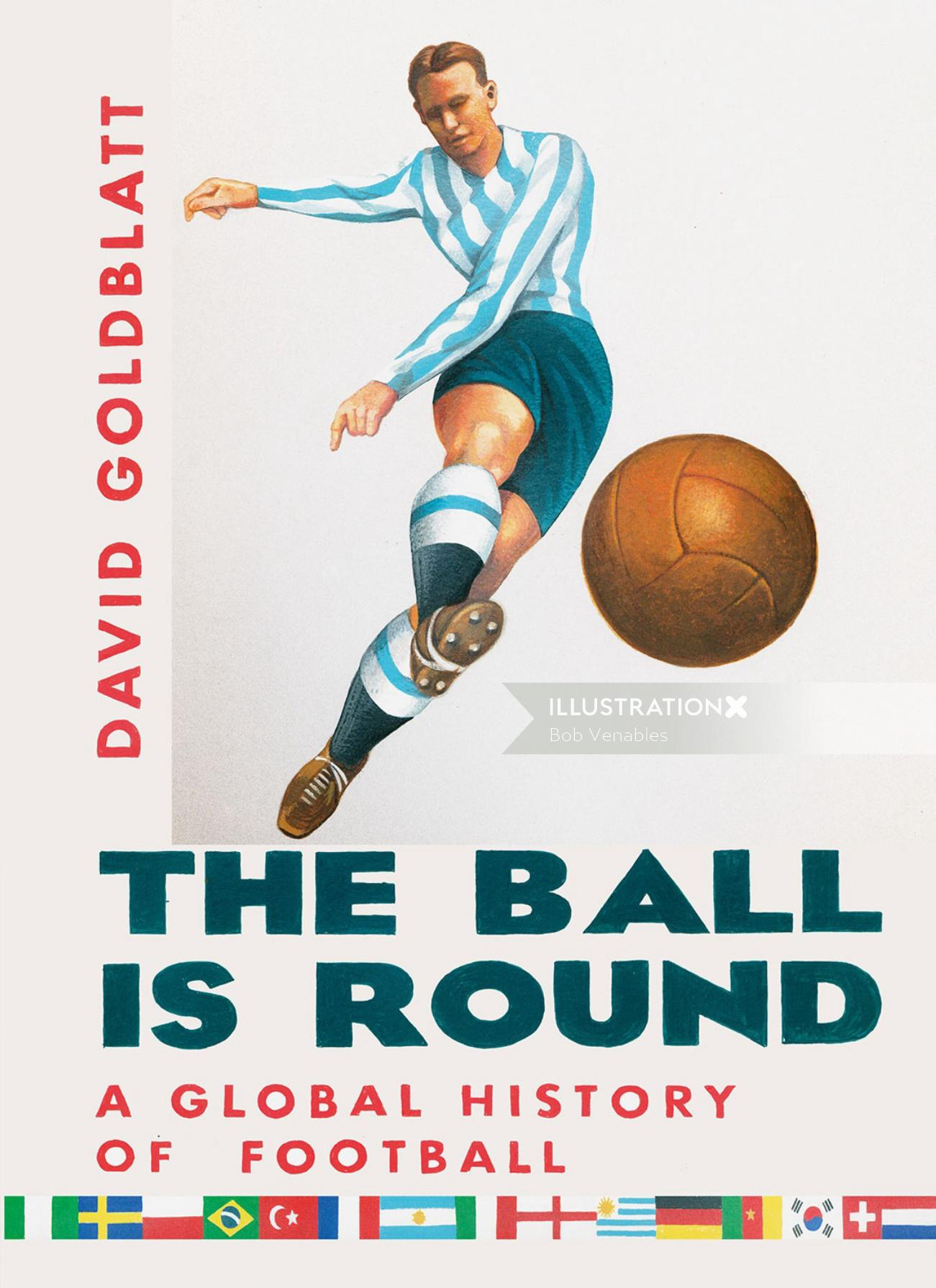 The ball is round book cover illustration