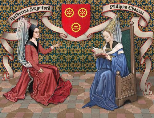 Medieval women Katherine Swynford and Philippa Chaucer