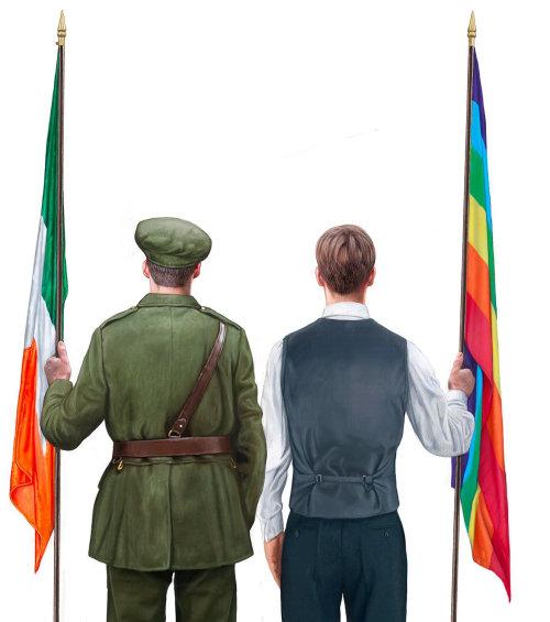 Holding flag poles