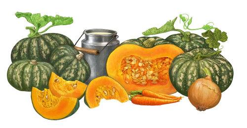 Bob Venables 的蔬菜插图