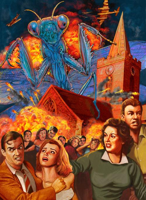 Promotional poster of Invasion Blue Mantis Vodka