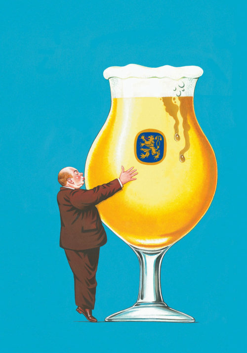 Advertising illustration of Beer Glass