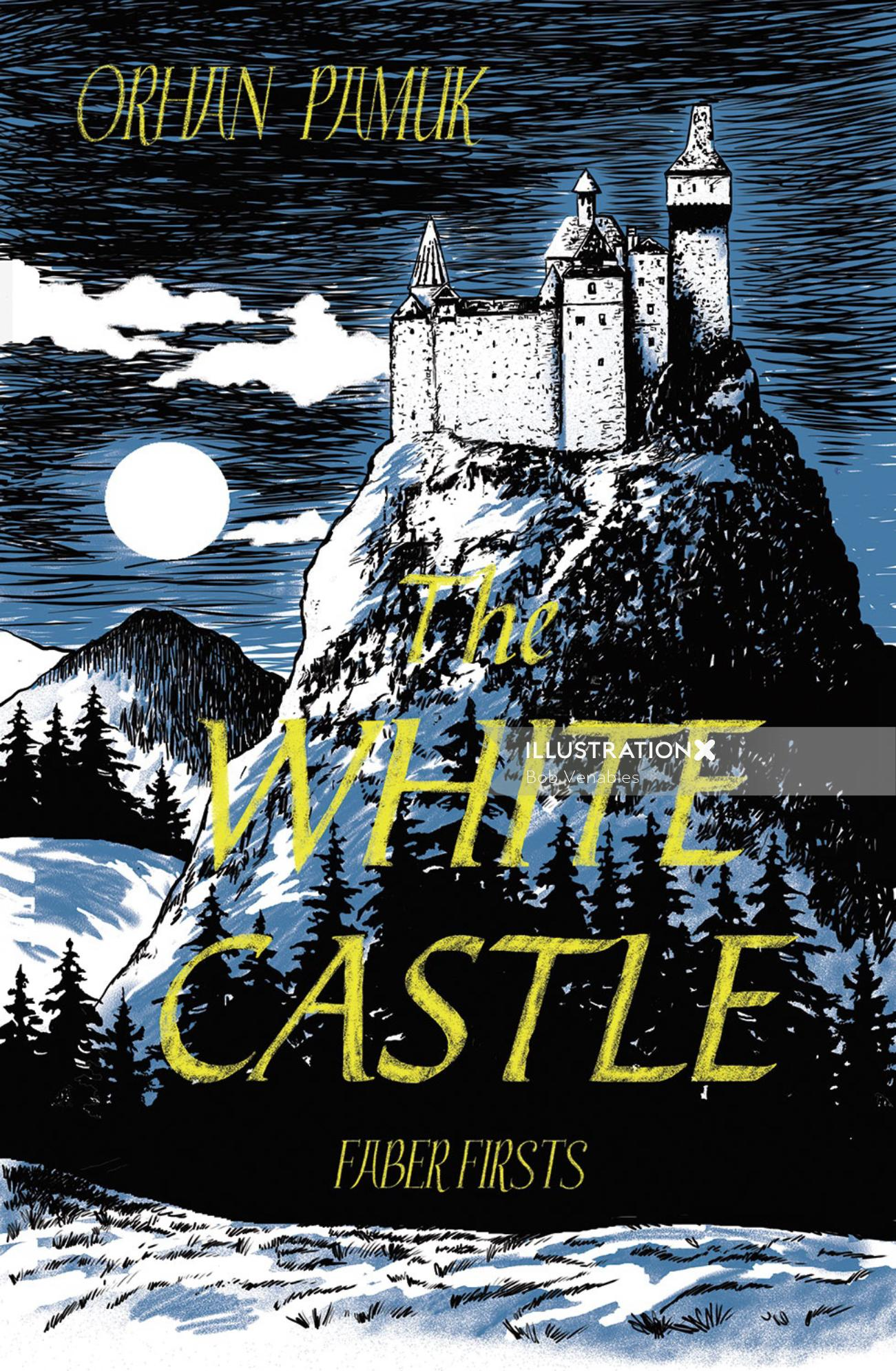 Book cover illustration of the white castle
