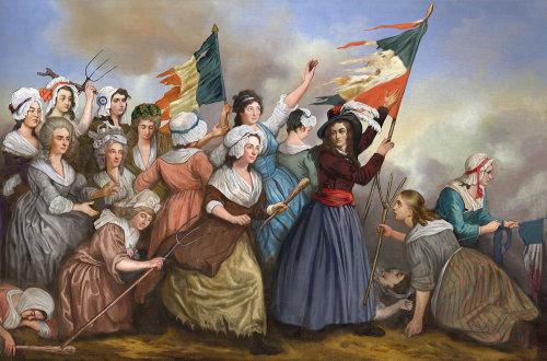1789 年法国大革命时期为《关于历史》杂志创作的模仿画