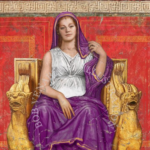 Painting of Agrippina - a granddaughter of the first Roman emperor