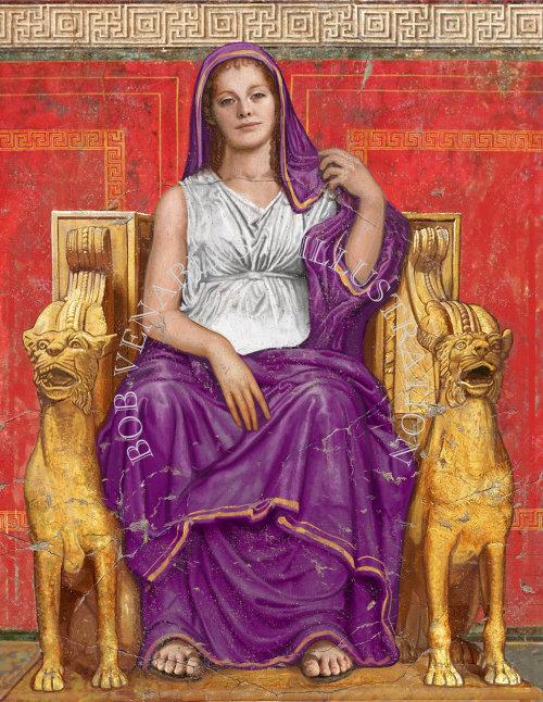 阿格里皮娜的绘画 - 第一位罗马皇帝的孙女