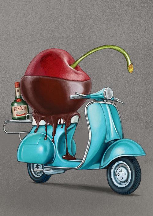 基尔希利口酒广告插图