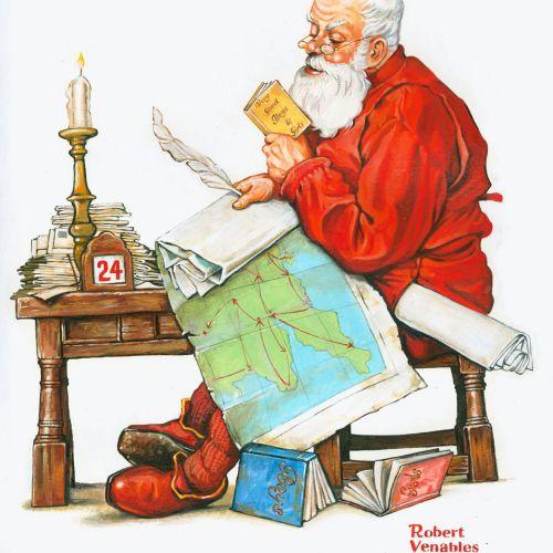 Santa Claus portraiture painting