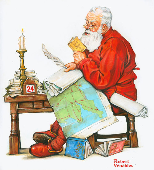 圣诞老人肖像画