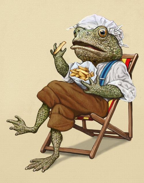 Bob Venables 的拟人化青蛙插图