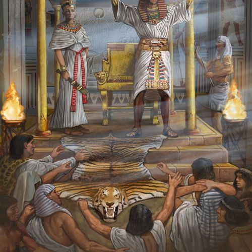 Historical scene of Egyptian into Turmoil for All About History Magazine