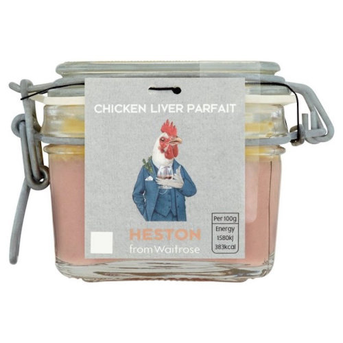 来自 Waitrose 的 Heston 鸡肝冻糕的包装插图