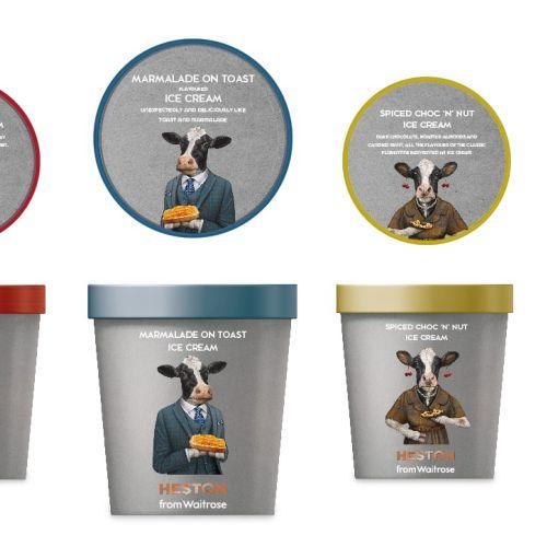 Packaging design for Heston Blumenthal range for Waitrose