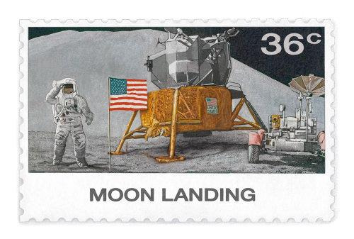 NNIP 的复古风格美国邮票