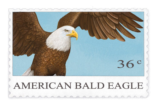 NNIP 的美国白头鹰邮票