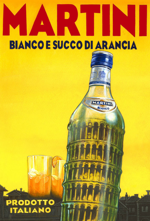 Poster art of Martini Bianco vermouth