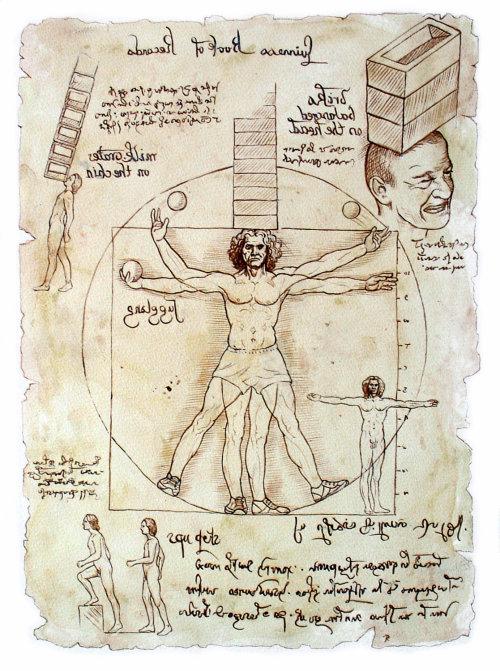 Infographic Vitruvian Man