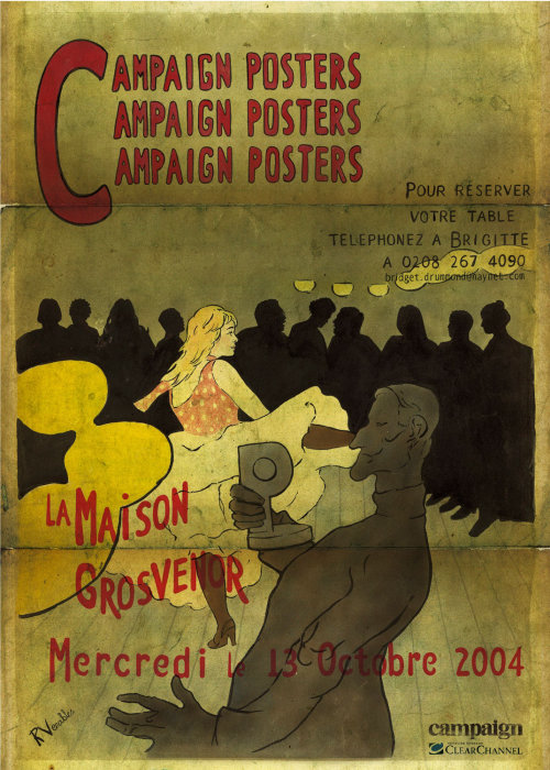 Campaign posters pastiche illustration