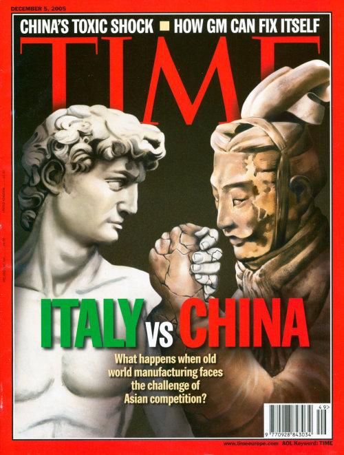 Italy vs China Time Magazine cover illustration