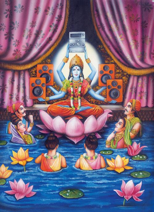 Goddess Lakshmi poster art