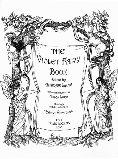 book cover design of The Violet Fairy Book