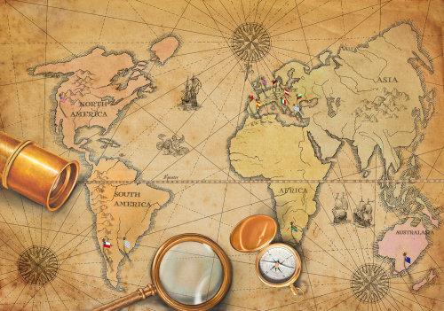 World map illustration by Bob Venables