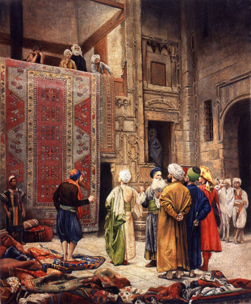 Carpet Merchant in Cairo pastiche illustration