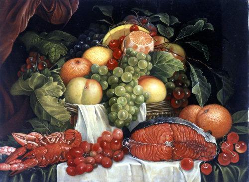 ilustrado Fish and fruit por Bob Venables