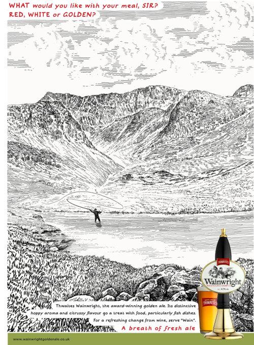 Advertising prints of Wainwright Beer