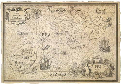 PES Island map illustration