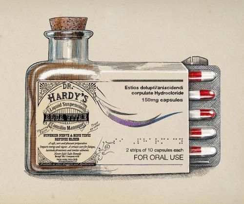 Dr. Hardy's Medicines medical illustration