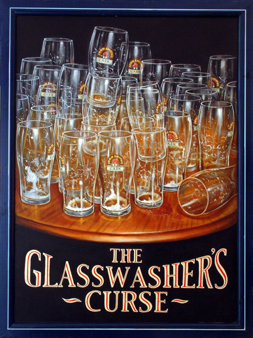 The Glasswasher's Curse poster art